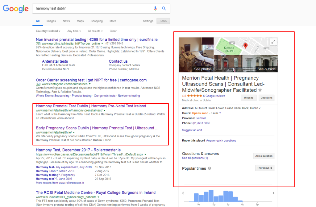 what is a google local listing