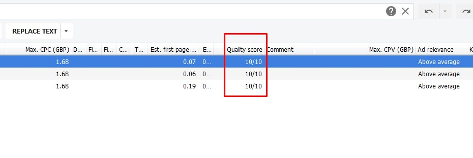 what is google adwords quality score